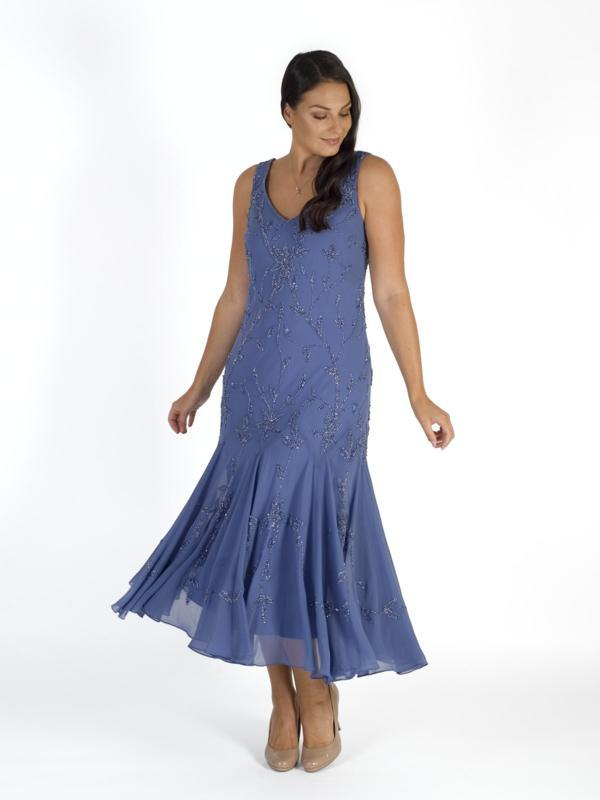 Bluebell Allover Beaded Dress