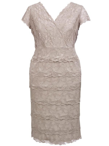 Sand Lace Layered Dress
