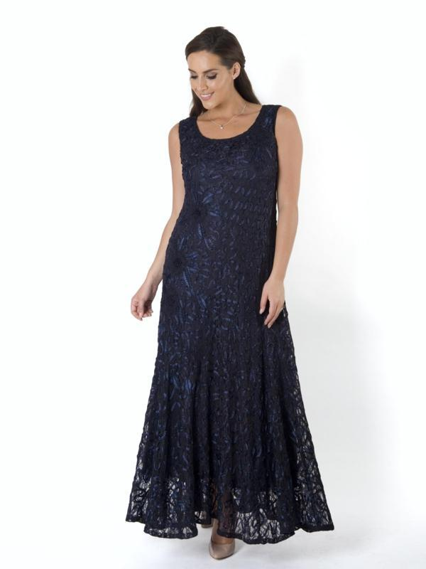 Navy Lace Cornelli Dress