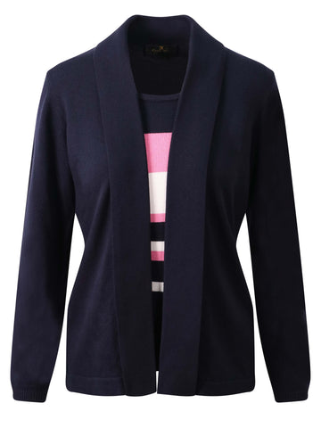 EUGEN KLEIN Navy 2-in-1 Stripe Jumper