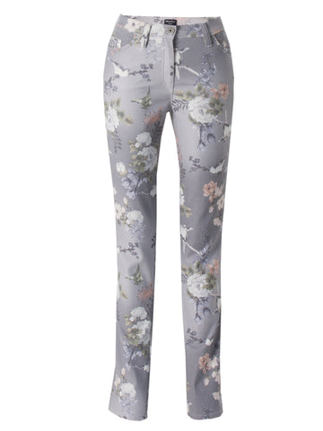 Michele Pink/Grey Printed Jean Regular