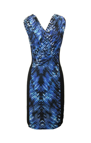 Black/Blue Ocean Panel Dress