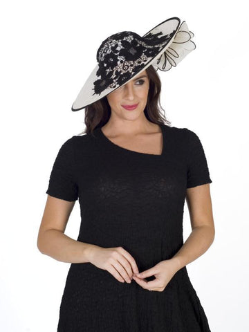 Ivory/Black Lace Grand Hatinator