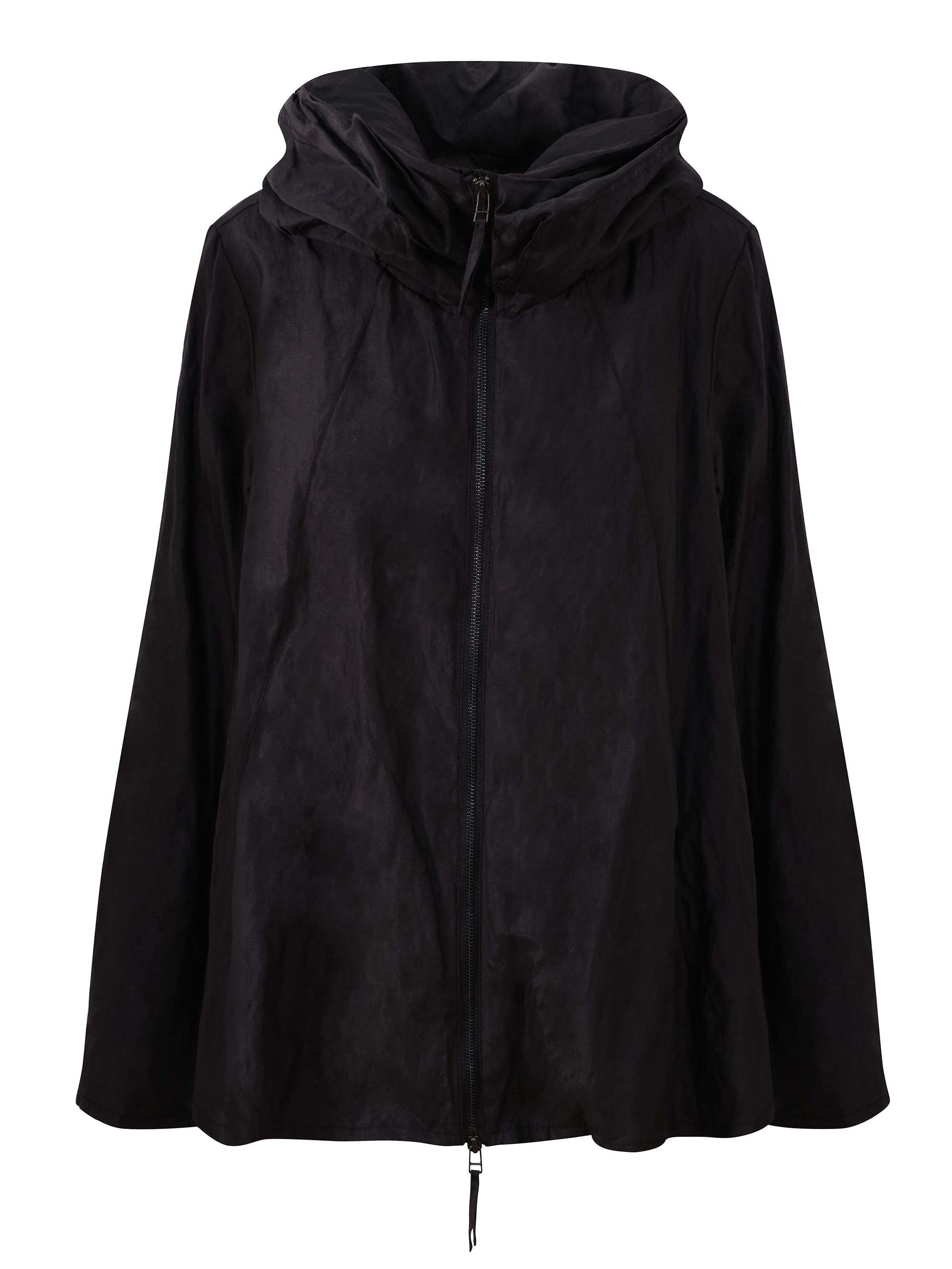 Vetono Black Short Coat With Fur Lining