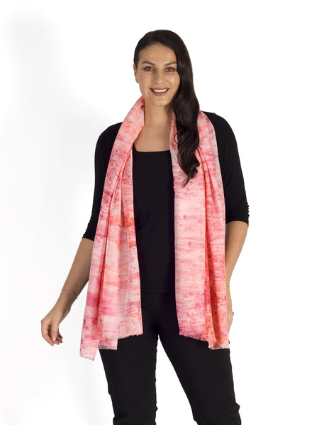 Rose Pink Marbled Scarf
