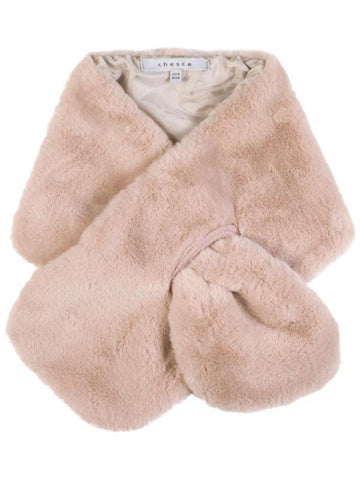 Pink Satin Lined Fur Tippet
