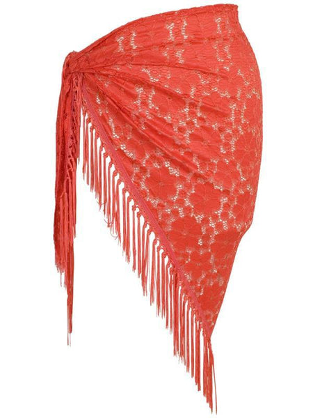 Coral Floral Lace Sarong
