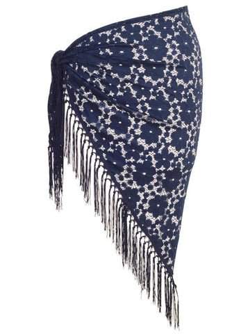 Navy Floral Lace Sarong