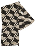 Black/Ecru Abstract Stripe Scarf
