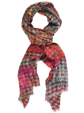 Red/Grey Check Scarf