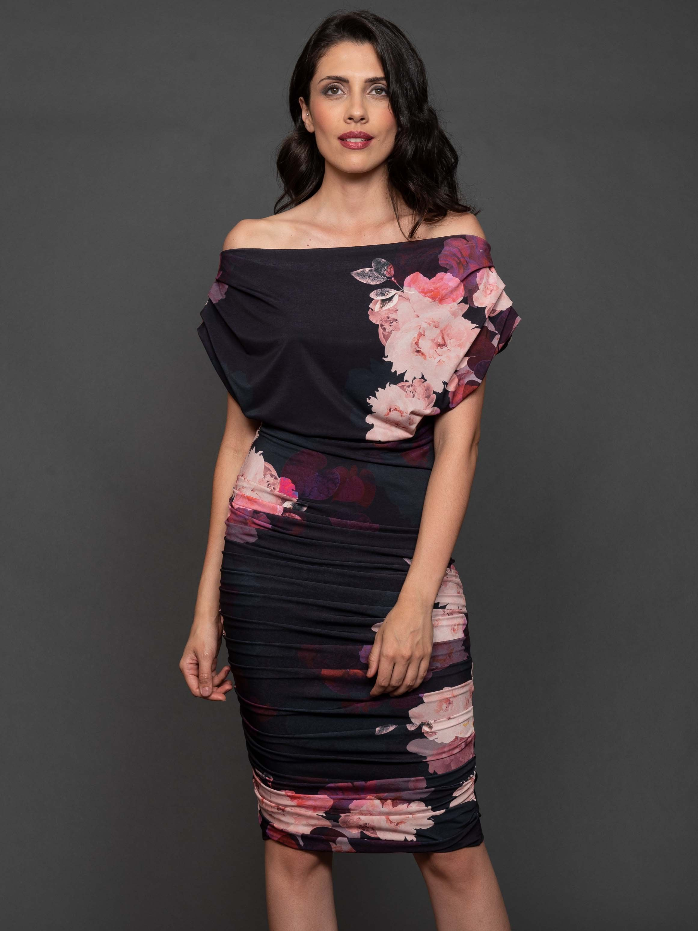 Franchesca  Floral Print Ruched Dress