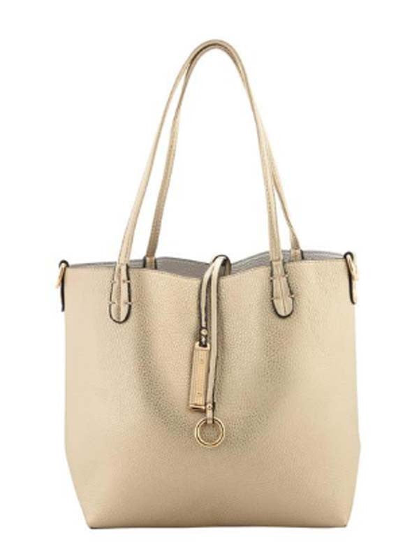 Gold & Silver Reversible Shoulder Bag