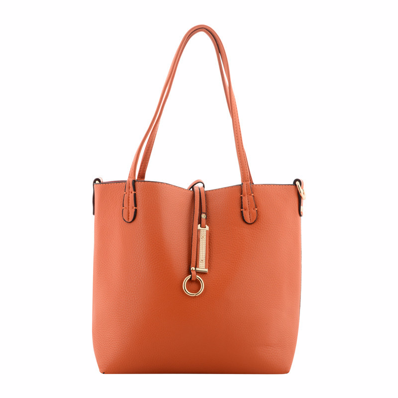 Orange And Fuchsia Reversible Shoulder Bag