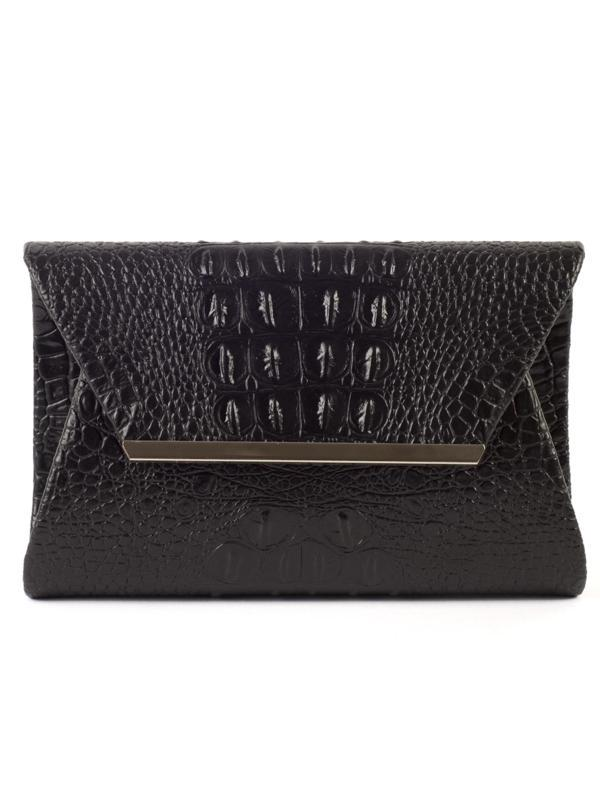 Black Moc Croc Bag
