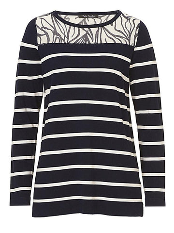 Betty Barclay Navy & Ivory Stripe Jumper