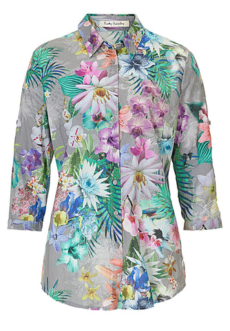 Betty Barclay Grey Floral Print Shirt