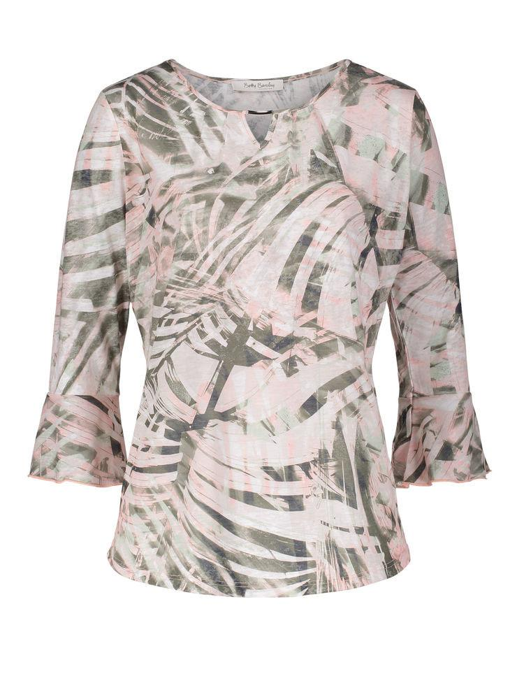 Betty Barclay Khaki/Rose Printed Woven Top