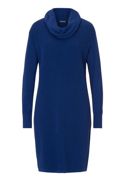 BETTY BARCLAY Knitted Cowl-neck Dress