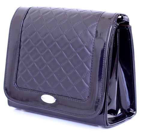 Black Diamond Quilted Print Bag B82Y139 alt1