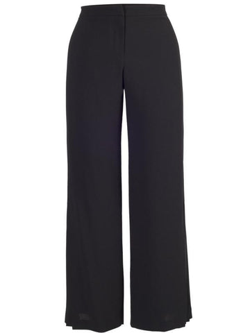 Black Pleat Trim Trousers 21Y203 alt1