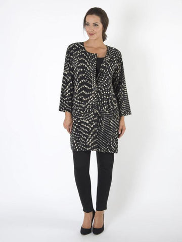 Black/White Lightweight Printed Jacket