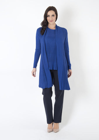 Blue_Shawl_Collar_Flare_Ribbed_Cardigan_42S0DS01_alt1