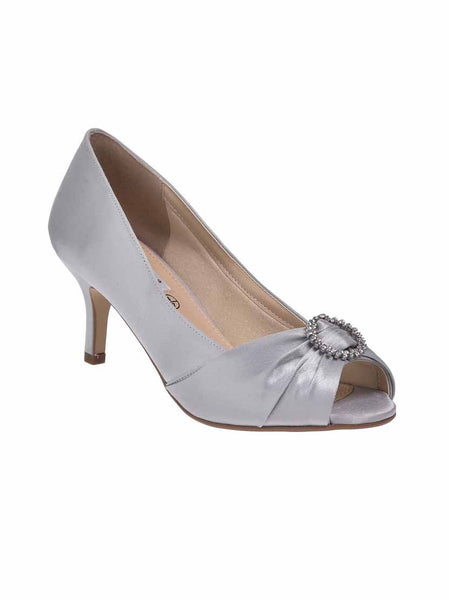 "Light Grey ""Valencia"" Ladies Wide Fit Shoe"
