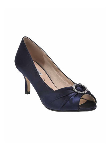 "Navy ""Valencia"" Ladies Wide Fit Shoe"