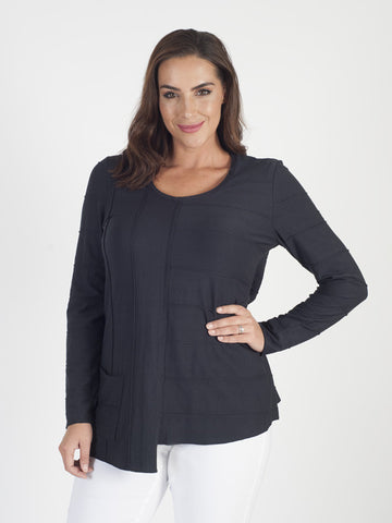 Vetono navy Jersey Tunic Top