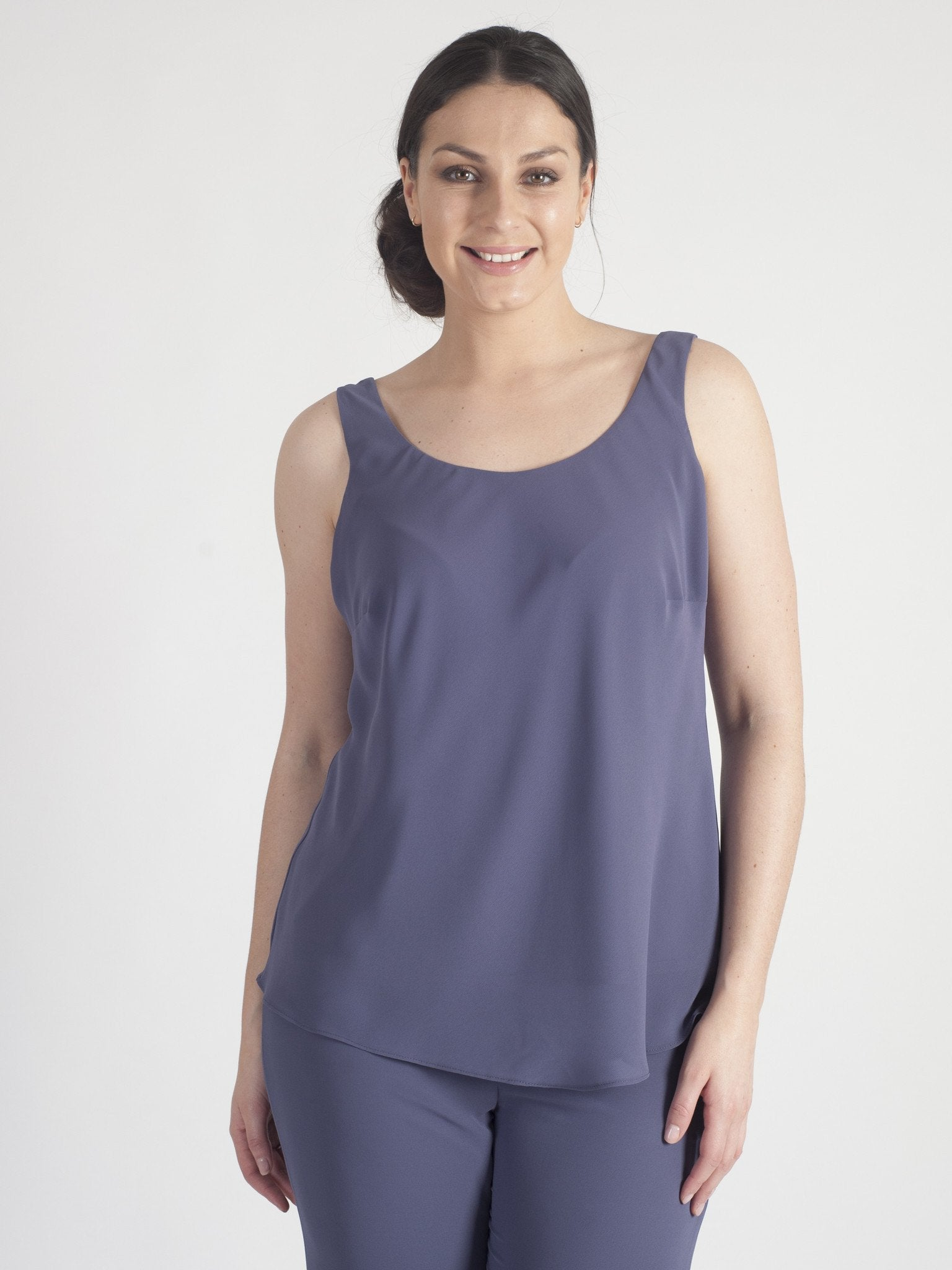 Chesca Direct Lavender Chiffon Camisole