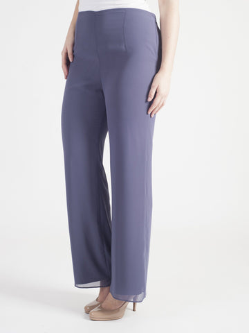 Soft Hyacinth Chiffon Trouser