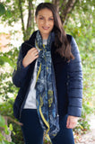 Gerry Weber Ink/Blue Padded Jacket In Velvet