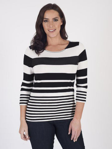 Betty Barclay Sequin Stripe Top - Pre-order End of July