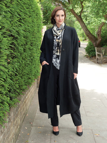 Black Wool Unlined Coat
