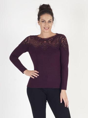 Leo & Ugo Prune Soft Knitted Jumper