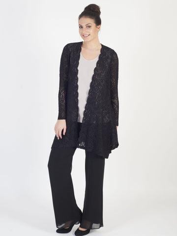 Black Scallop Lace Shrug