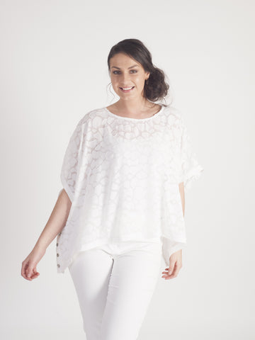 White Pebble Burnout Top - Pre-order 16th May
