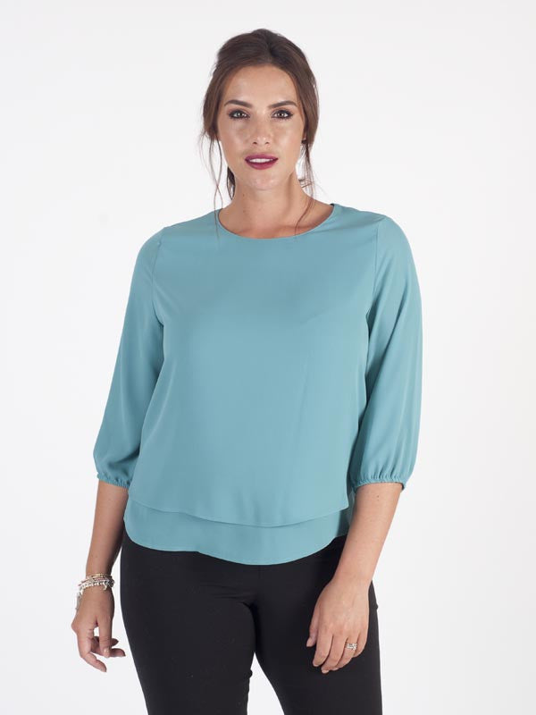Frank Walder Woven Two Layer Top