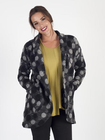 Grey Spot Printed Jacket