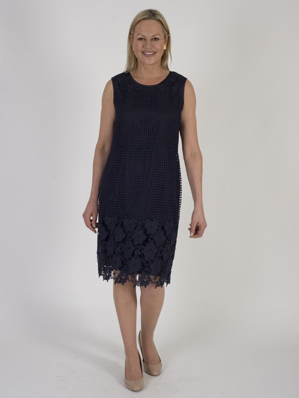 Gerry Weber Navy Lace Shift Dress