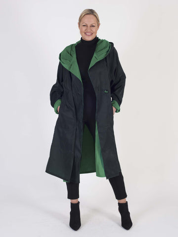 Lime Green Reversible Tea Length Raincoat