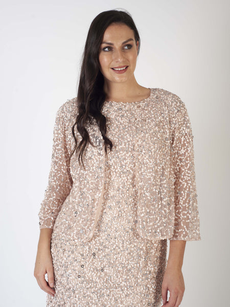 Blush Allover Sequin Jacket