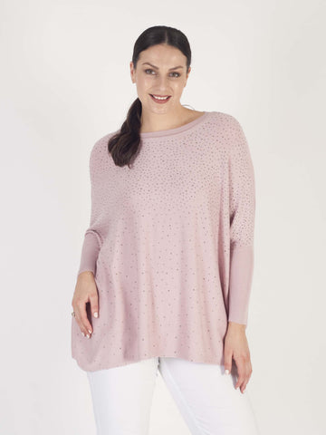 Dusty Pink Long Sparkle Jumper