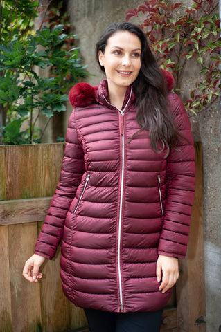 Gerry Weber Burgundy Quilted Coat