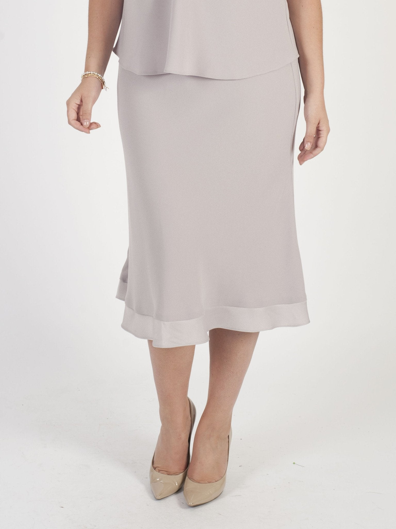 Mink Satin Back Crepe Skirt