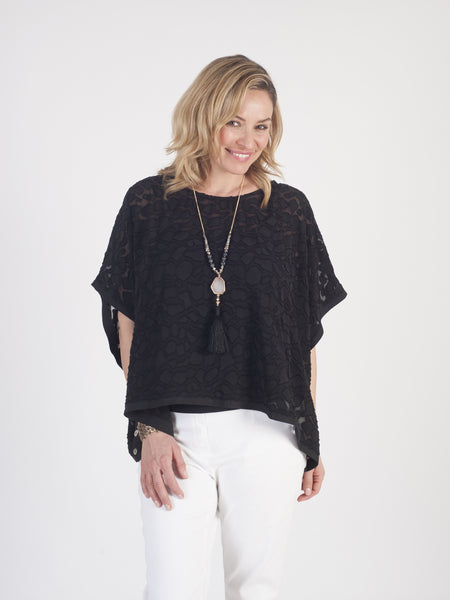 Black Pebble Burnout Top