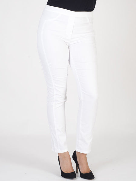 Frank Walder Easy Pull-on White Trousers