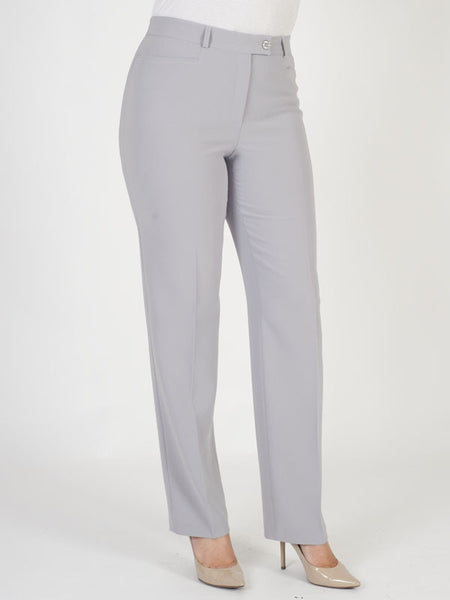 Basler Silver-grey 'Diana' Straight Trousers