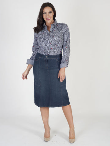 Gerry Weber Panelled Denim Skirt