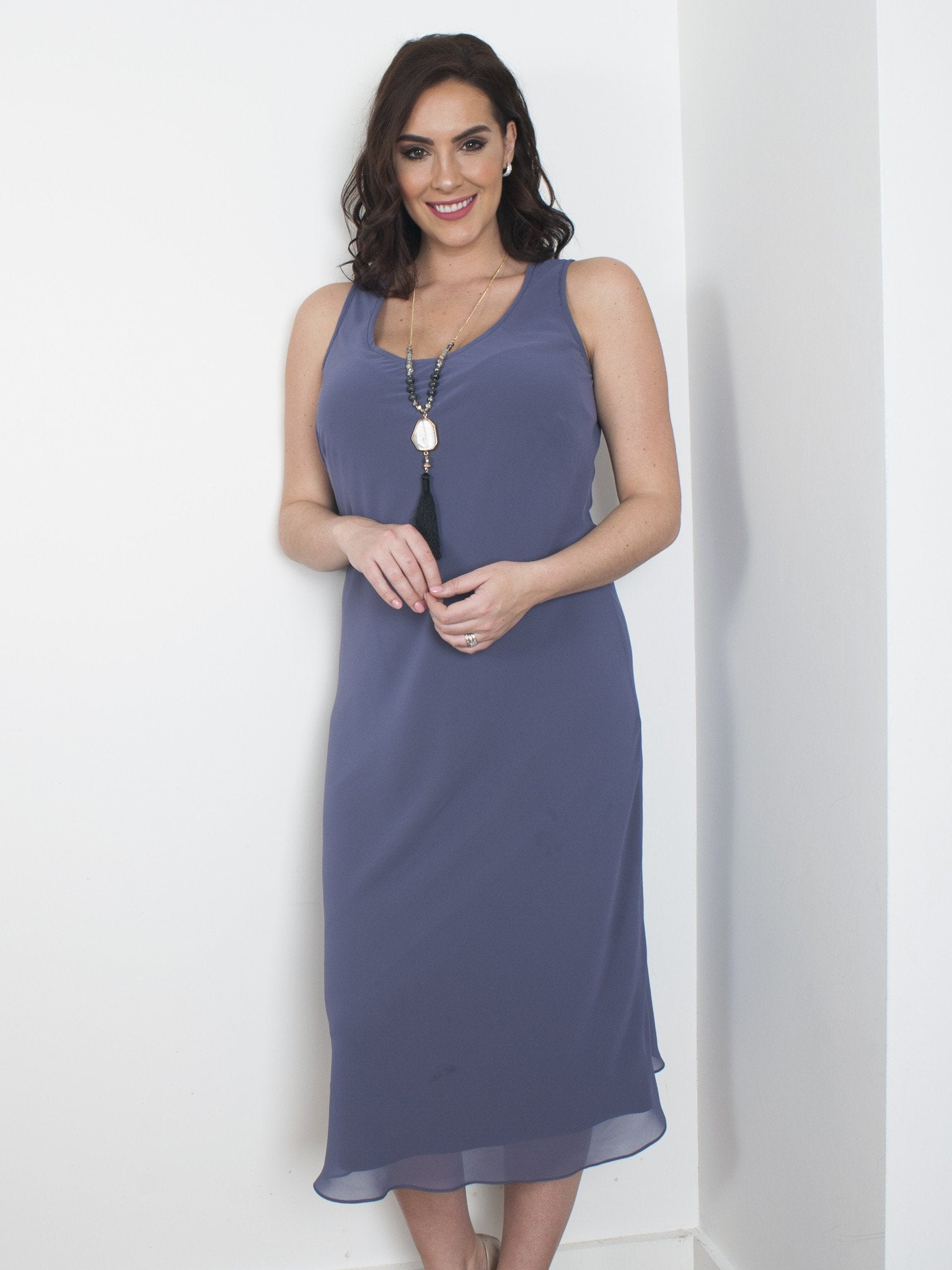 Chesca Direct Lavender Chiffon Dress -  Pre Order For Size 22-24 & Size 12 End of October